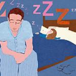 Муж не может уснуть